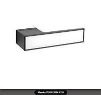 Дверная ручка Tupai 3084 RT H черная, вставка  белый глянец