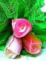 Букет роз из мыла.