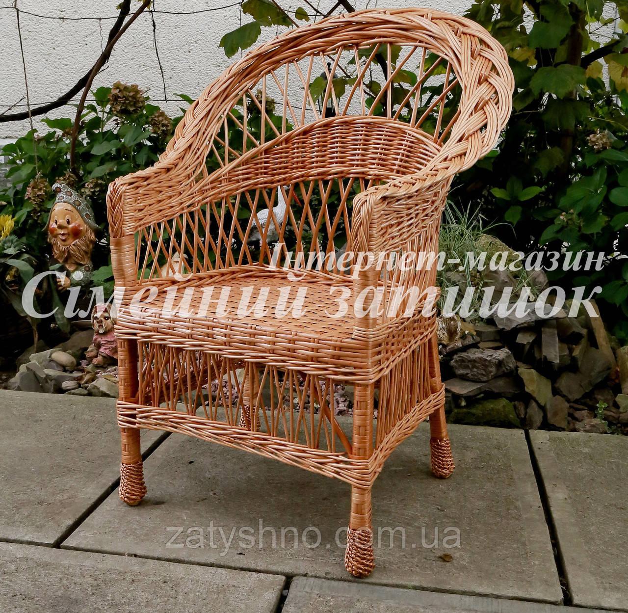 Кресло плетеное обеденное
