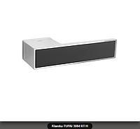 Дверная ручка Tupai 3084 RT H хром, вставка черный мат