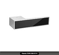 Дверная ручка Tupai 3084 RT H хром, вставка черный глянец