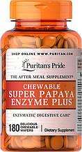 Пищеварительные энзимы и ферменты, Puritan's Pride Chewable Super Papaya Enzyme Plus 180 Chewables