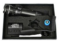 Лазерный целеуказатель laser scope, зелёный луч, моноблок weaver, кронштейн для установки оп, фото 1
