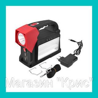 Ручной светодиодный фонарик YJ 1960T + солнечная панель!Опт