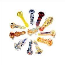 Индийские трубки цветные. Толстое стекло.