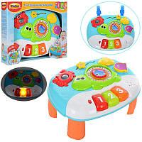 Музыкальный Игровой центр столик на ножках, многофункциональный,музыка, свет, трещоткаWinFun,0852 NL