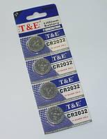 Батарейка таблетка T&E CR 2032
