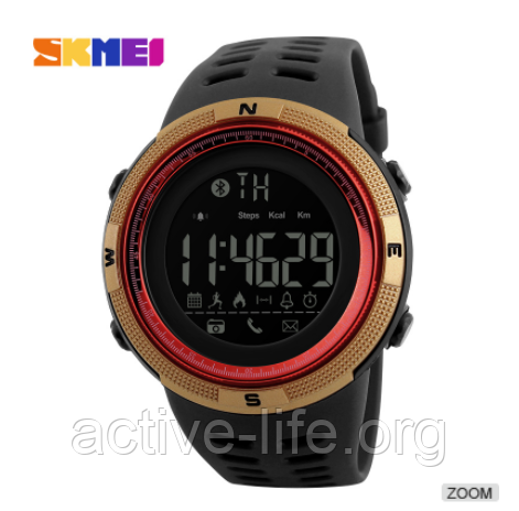 Смарт часы Skmei ( bluetooth) watch 1250 (red-gold) New 2018 Гарантия! +  ВІДЕО 09e21bdf0f99c