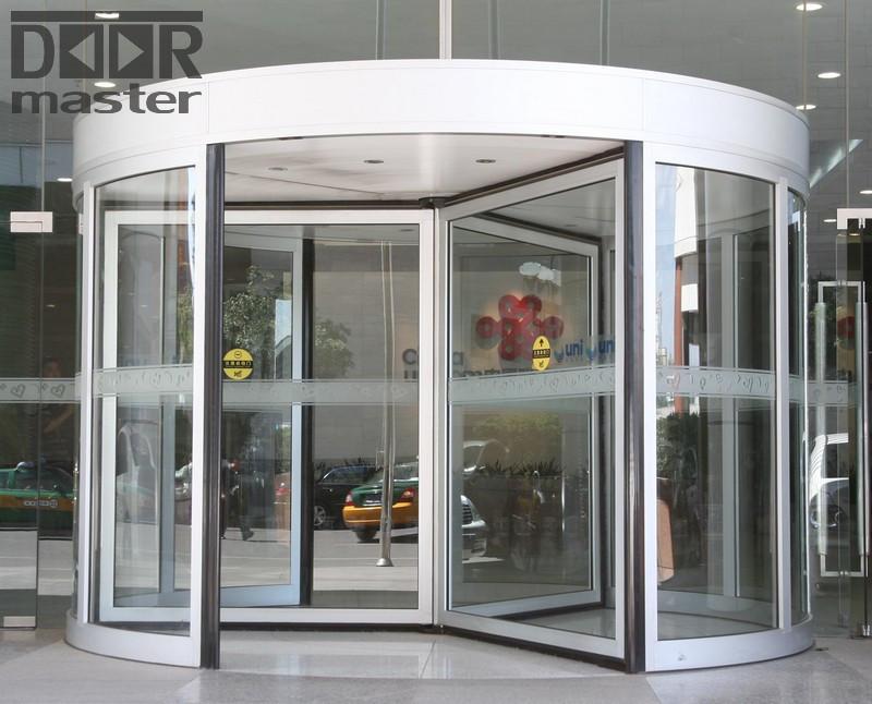 Автоматическая карусельная дверь КББ на три створки,  d=3000мм