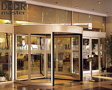 Автоматическая карусельная дверь КББ на три створки,  d=3000мм, фото 3