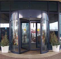 Автоматическая карусельная дверь КББ на три створки,  d=3000мм, фото 2