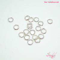 Кольцо соединительное микс 1г серебро для рукоделия