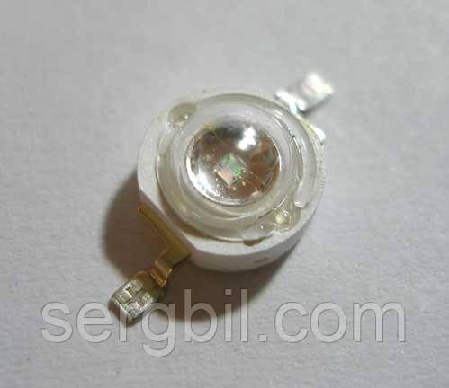 Світлодіод 1Вт емітер ультрафіолетовий 400нм 300мА 3,8 В