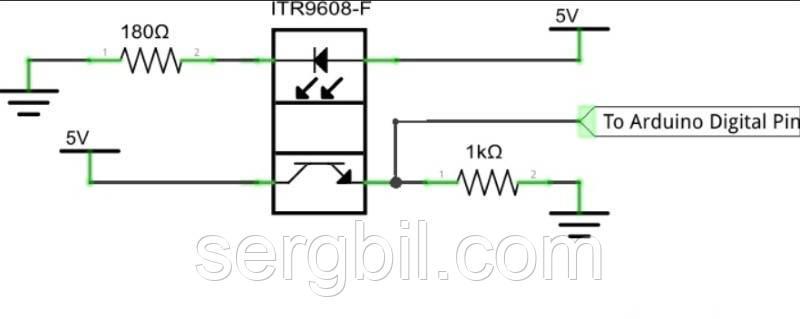 ITR9608 оптопара (оптичний датчик на проходження)
