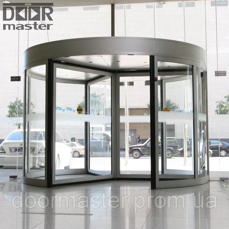 Автоматические вращающиеся двери KA023 на три створки, d=2700мм
