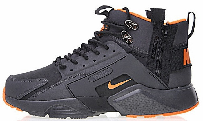 Кроссовки мужские Найк ACRONYM x Nike Air Huarache CITY MID LEA. ТОП Реплика ААА класса.