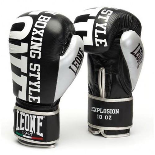 Боксерские перчатки Leone Explosion Black 12 ун.