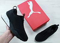 Мужские кроссовки Puma (Пума) черно-красные
