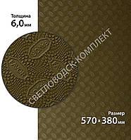 Резина набоечная FAVOR, р. 570*380*6мм, цв. светло-коричневый (5) khaki, фото 1