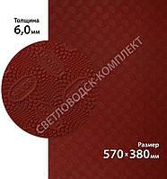 Резина набоечная FAVOR, р. 570*380*6мм, цв. темно-красный (3) dark red, фото 1
