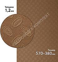Резина подмёточная FAVOR, р. 570*380*1.2мм, цв. бежевый (13) beige, фото 1