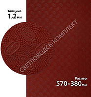 Резина подмёточная FAVOR, р. 570*380*1.2мм, цв. темно-красный (3) dark red