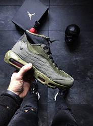 Мужские кроссовки Nike Air Max 95 Sneakerboot (Найк Аир Джордан) хаки