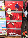 """Комод на 4 ящика с декором """"леди баг и супер кот """" Алеана, фото 2"""