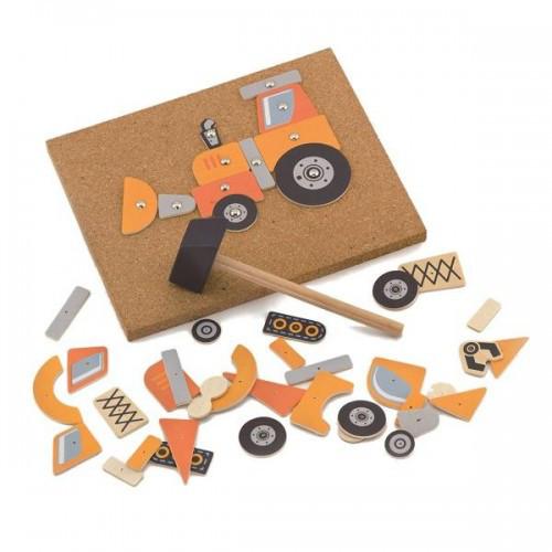 Строительная техника, набор для творчества Viga Toys (50336)