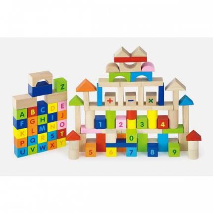 Набор кубиков Алфавит и числа Viga Toys (100 шт., 3 см.) (50288), фото 2