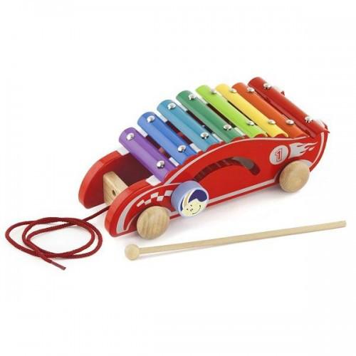 Машинка деревянная игрушка-каталка Viga Toys (50341)