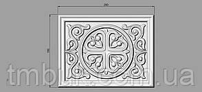 Центральный резной декор 11 для филенок - 250х190 мм, фото 2