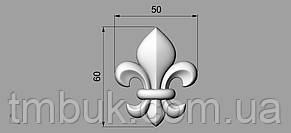 Центральный резной декор 47 - 50х60 мм, фото 2