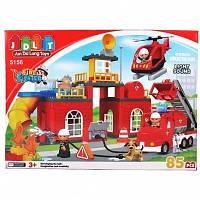 Блочный конструктор JDLT 5156 Пожарная станция