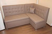 Угловой диван в кухню под заказ (Бежевый)