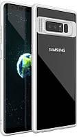 Чехол Ipaky Transparent Acrylic with TPU bumper Samsung Galaxy Note 8 White