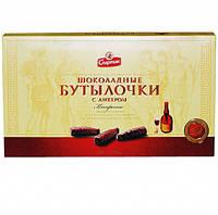 Шоколадные бутылочки Спартак с ликёром 168гр
