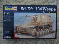 Самоход.лафет на базе шасси танкаи легкой полевой гаубицы (1942г., Германия) Sd. Kfz. 124 Wespe, 1:76 (03215)