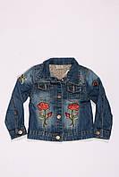 Джинсовая куртка для девочек от 3 до 8 лет, фото 1