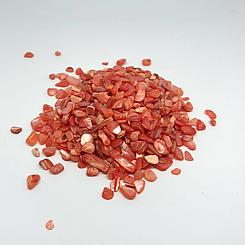 Дробленый камень полированный. Оранжевый.