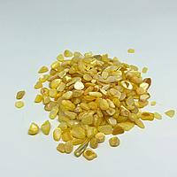 Дробленый камень полированный. Желтый.