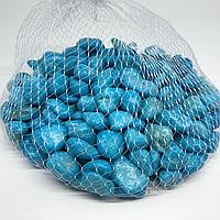 Камушки декоративные. Цвет голубой. 0.5кг