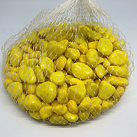 Камушки декоративные. Цвет желтый. 0.5кг