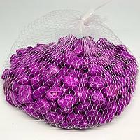 Камушки декоративные. Цвет фуксия. 0.5кг