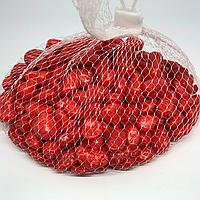 Камушки декоративные. Цвет красный. 0.5кг
