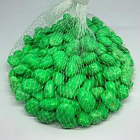 Камушки декоративные. Цвет зелёный. 0.5кг
