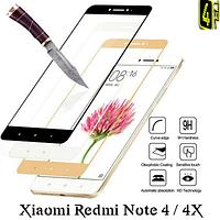 Закаленное стекло для Xiaomi Redmi Note 4 (global), 9H, 3D, чёрное