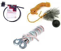 Тросы, шнуры, щетки для чистки дымоходов, котлов