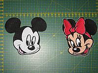 Минни Маус с красным бантом Герои мультфильмов Disney Company (Уо́лта Ди́снея), нашивки