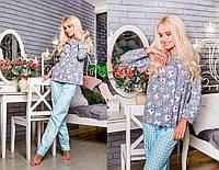 """Женская стильная пижама брюки и рубашка """"Мишки"""""""